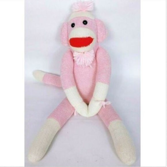 Ozark Mountain Kid Pink Monkey Plush 20""